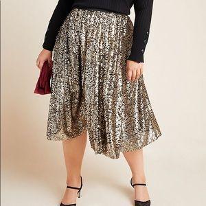 Anthropologie Orleans Sequined Midi Skirt!